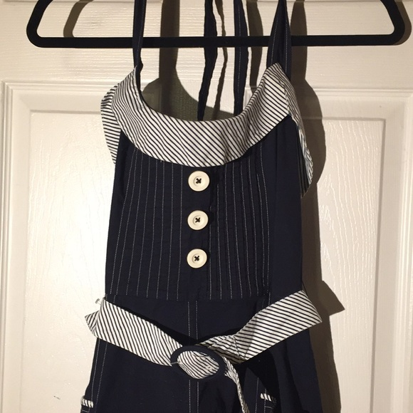 Lil Dresses & Skirts - Navy halter sundress. Rockabilly. Size 14